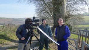 Simon Vacher filming Chris & Phil Morrish for ND biosphere by Jo Stewart-Smith